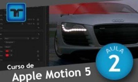 Curso de Apple Motion #01 INTERFACE – Uma visão geral do programa.