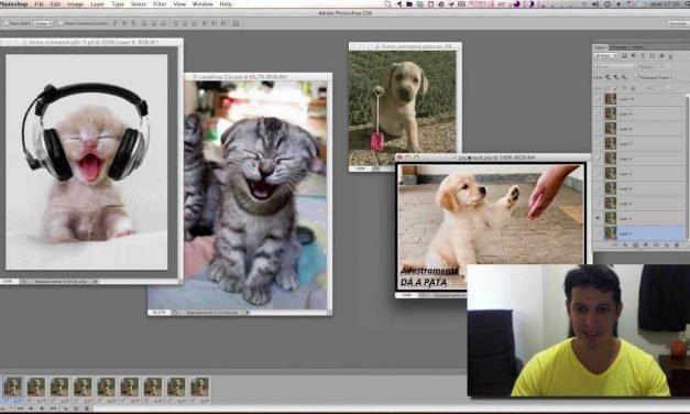 Curso de Photoshop #14 GIF ANIMADO –  Faça animações com suas próprias fotos.