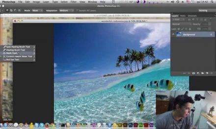 Curso de Photoshop CC #35 – CONTENT AWARE – Como Tirar objetos de uma fotografia??