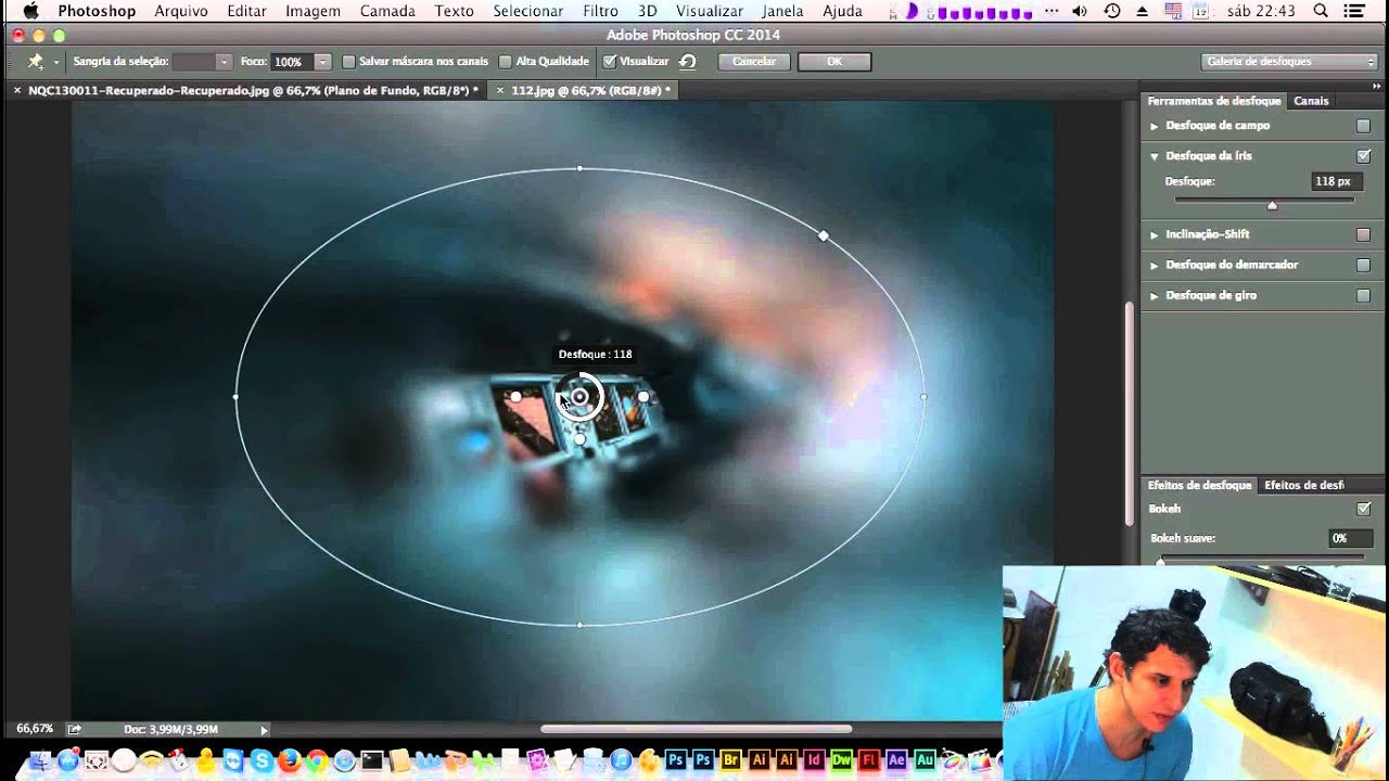 NOVIDADES DO PHOTOSHOP CC 2014 • Desfoque de Iris (Iris Blur)