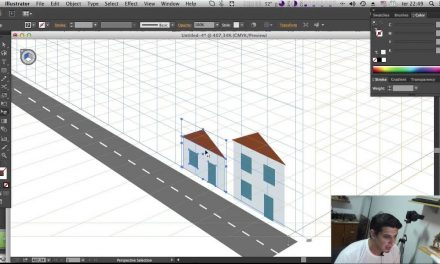 Perspectiva no Illustrator – Perspective Grid Tool – Curso de Illustrator CC #23