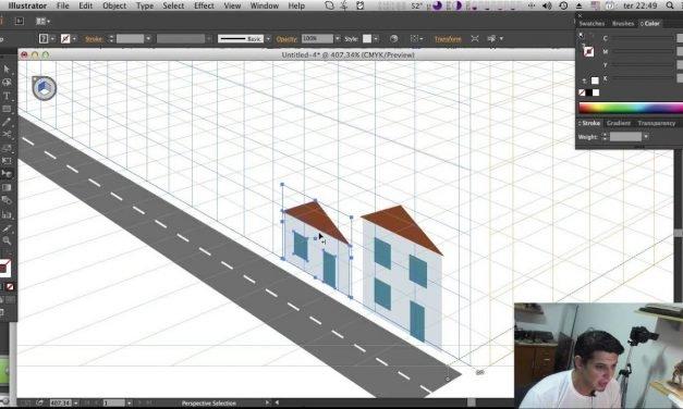 Perspectiva no Illustrator – Perspective Grid Tool – Curso de Illustrator CC #23