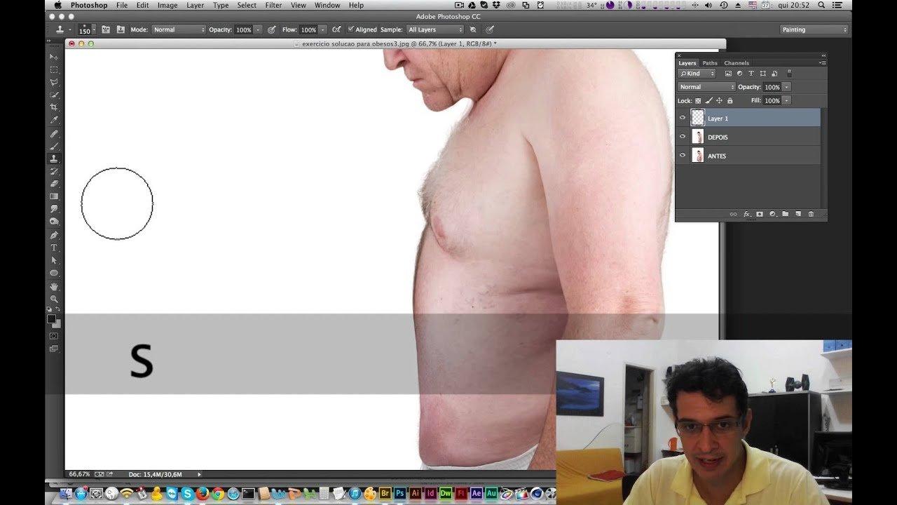 Diminuir Barriga no Photoshop – Tutorial de Photoshop (Tirar Barriga)