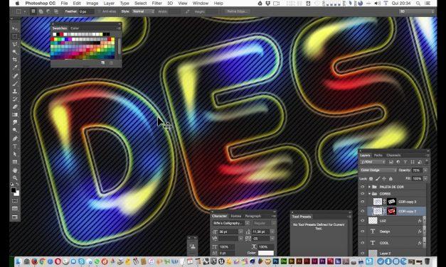 Tutorial de Photoshop – Efeito de Texto Retro no Photoshop – Curso de Design Gráfico