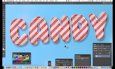 Curso de Design Gráfico -Tutorial de Photoshop – Texto Doce Candy Text