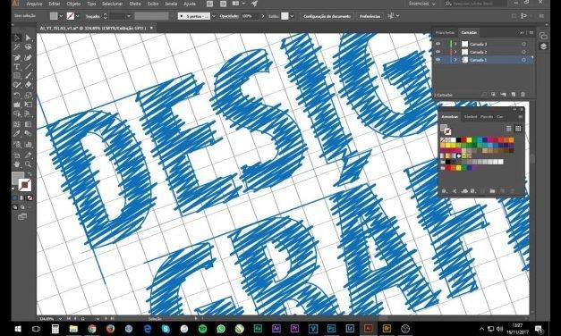 CURSO DESIGN GRÁFICO – Tutorial Illustrator – Efeito Blue Print