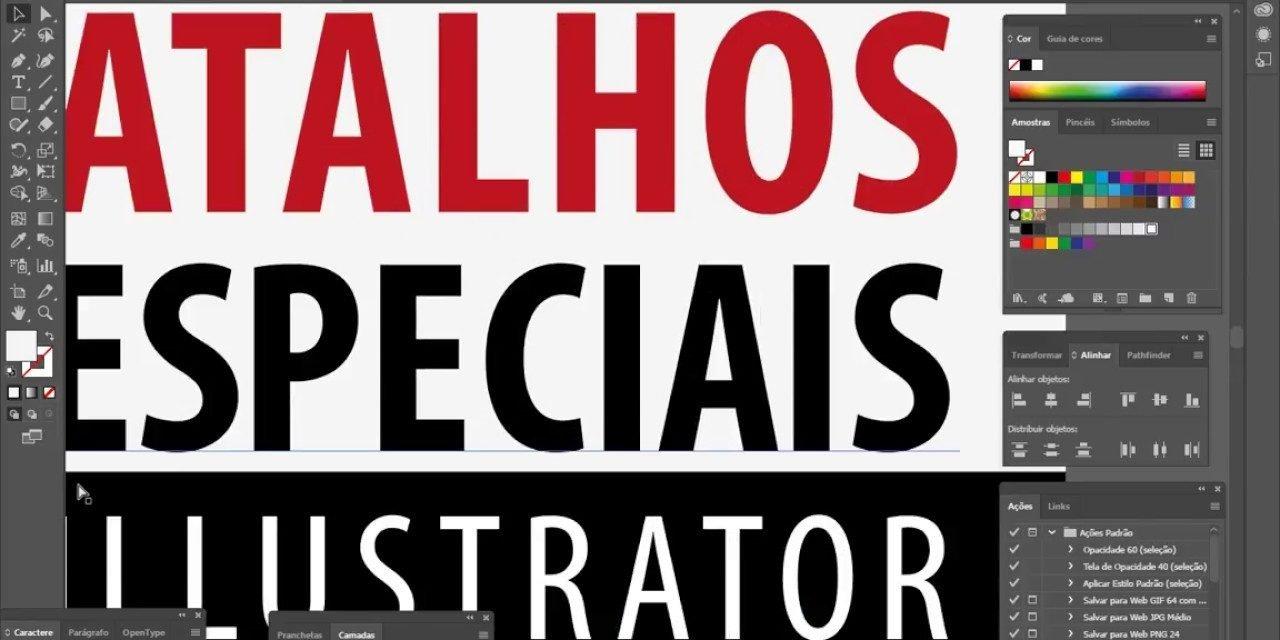 DESIGN GRÁFICO – Principais atalhos do Adobe Illustrator (Shortcuts)