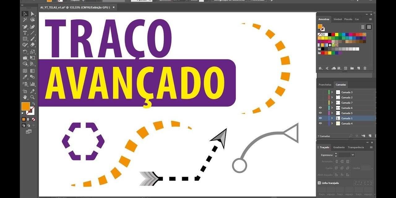 CURSO DE ILLUSTRATOR – Técnica avançada da ferramenta Traço (contorno) – Stroke