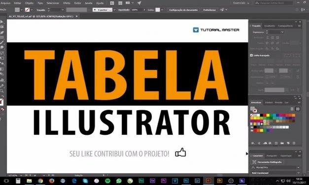 RÁPIDO E PRECISO – Veja como criar Tabela no Illustrator – Curso de Illustrator CC