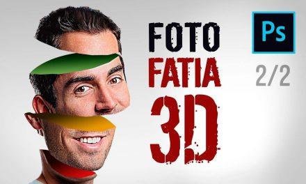 2/2 – COMO FAZER EFEITO 3D NO PHOTOSHOP – Efeito 3D de Rosto Fatiado no Photoshop