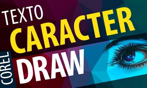 Curso de Corel Draw Introdução a ferramenta de texto Caractere
