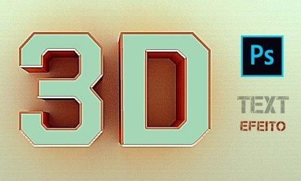 JEITO FÁCIL – COMO CRIAR TEXTO 3D NO PHOTOSHOP – Efeito 3D em texto – Tutorial de Photoshop 3D