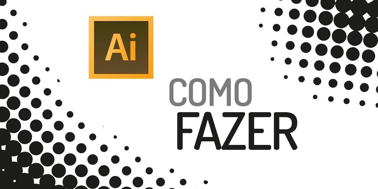 COMO CRIAR EFEITO RETÍCULA DE IMPRESSÃO (Reticulado – Halftone) Curso de Adobe Illustrator cc 2017.