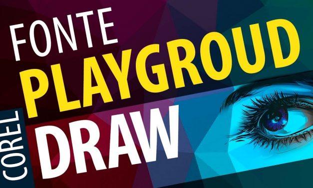 CURSO DE COREL DRAW Introdução – Fonte Playground – Ferramenta de texto do Corel Draw 2017