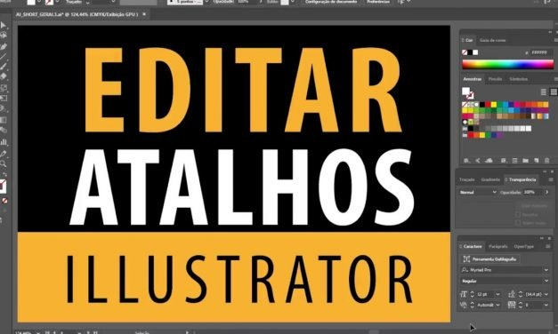 Curso de Illustrator CC – Como editar atalhos do Illustrator – Shortcuts
