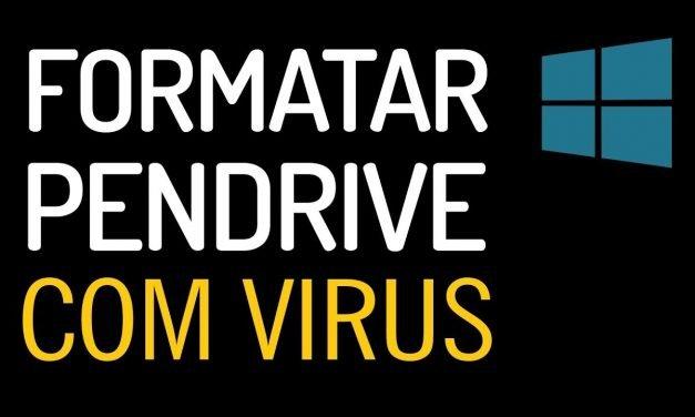 MÉTODO SEGURO de como formatar Pendrive com virus no windows sem programas.