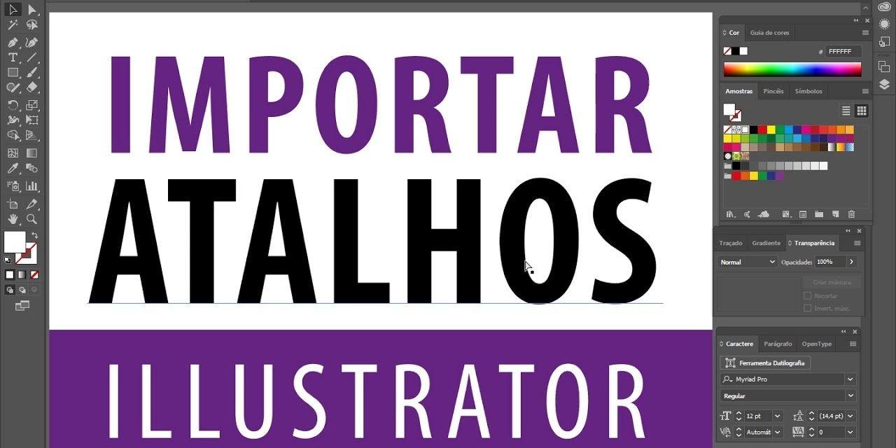 ATALHOS DO ILLUSTRATOR – como editar e importar – Curso de Illustrator CC – Shortcuts
